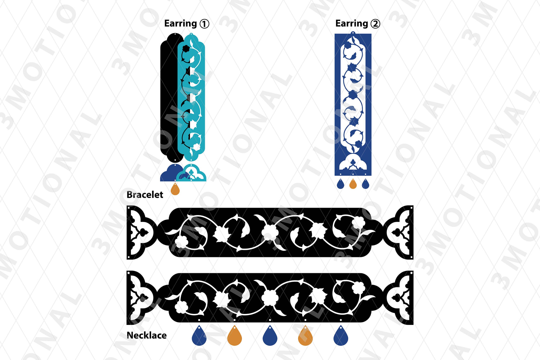 Eastern style acrylic leather wood jewelry kit 01 example image 3