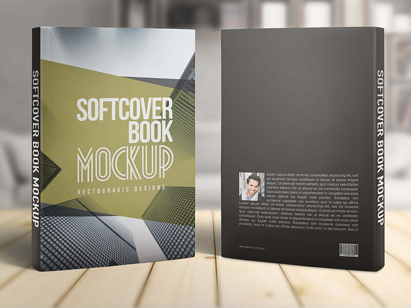 Softcover Book Mockups example image 4