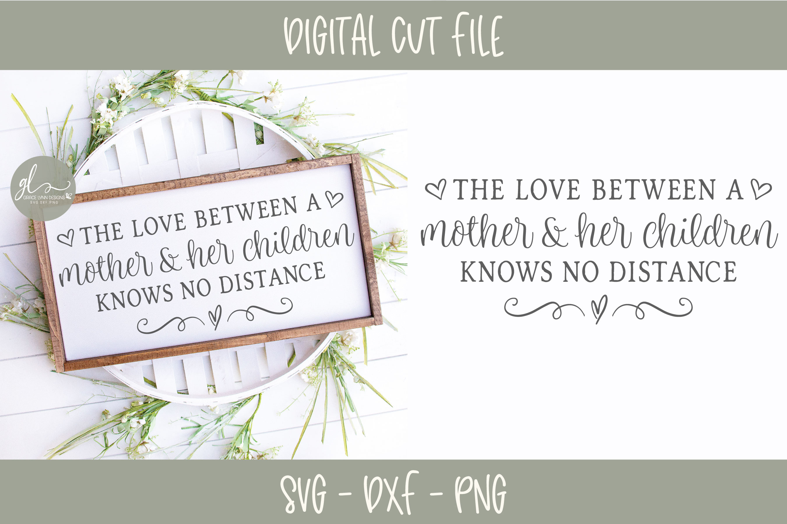 The Love Between A Mother And Her Children - SVG Cut File example image 1