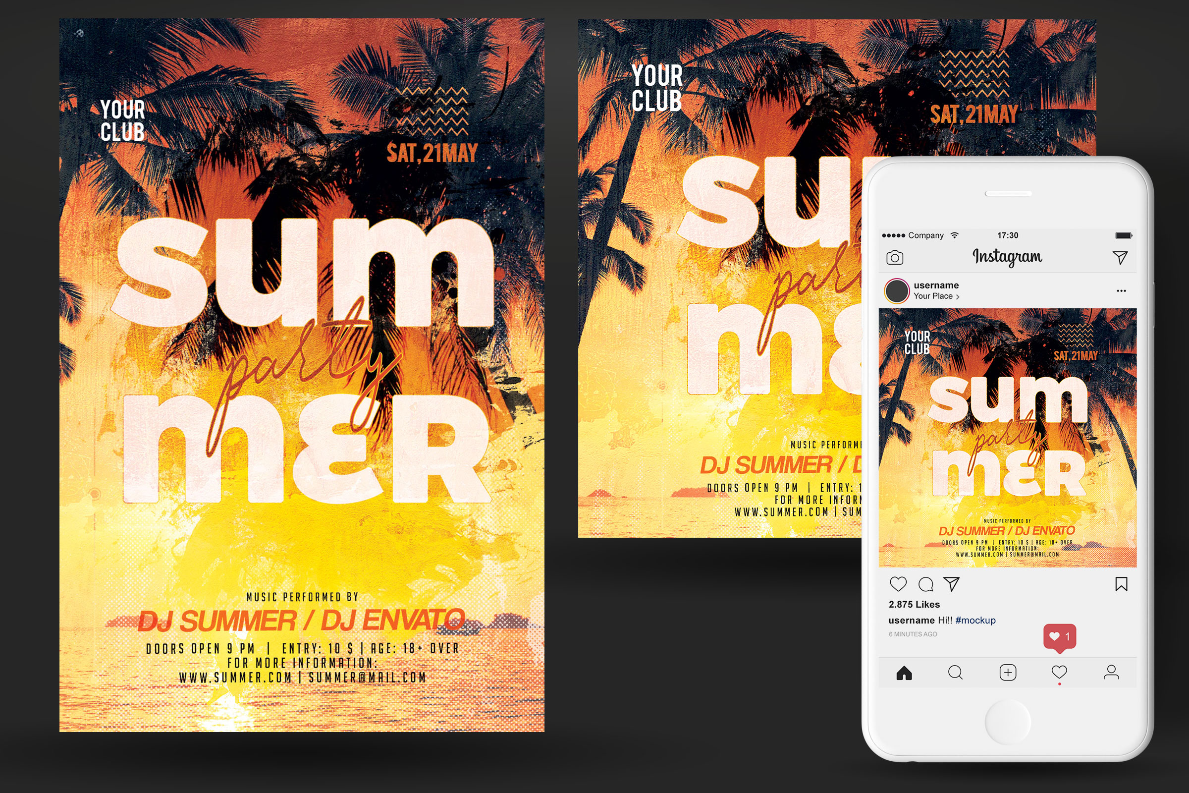 Summer Party Flyer example image 2
