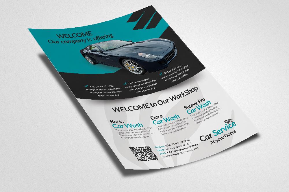 Car Service Workshop Flyer Template