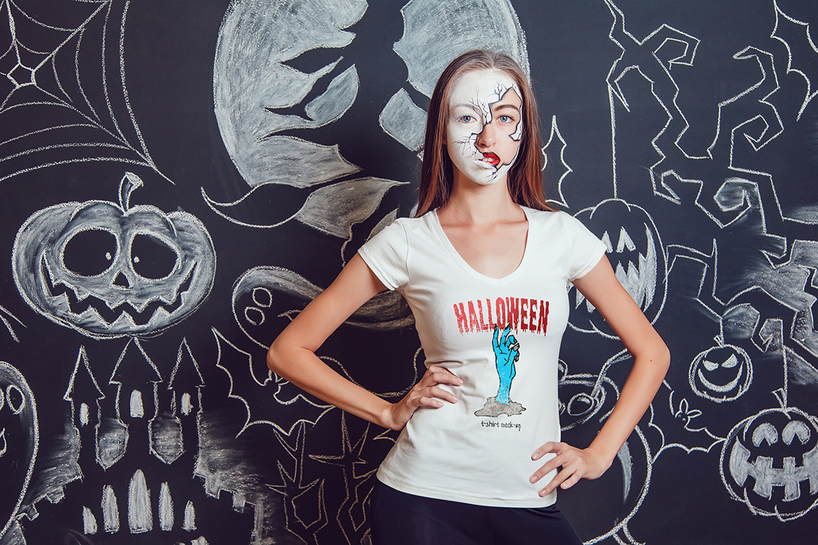 Halloween T-Shirt Mock-Up example image 14