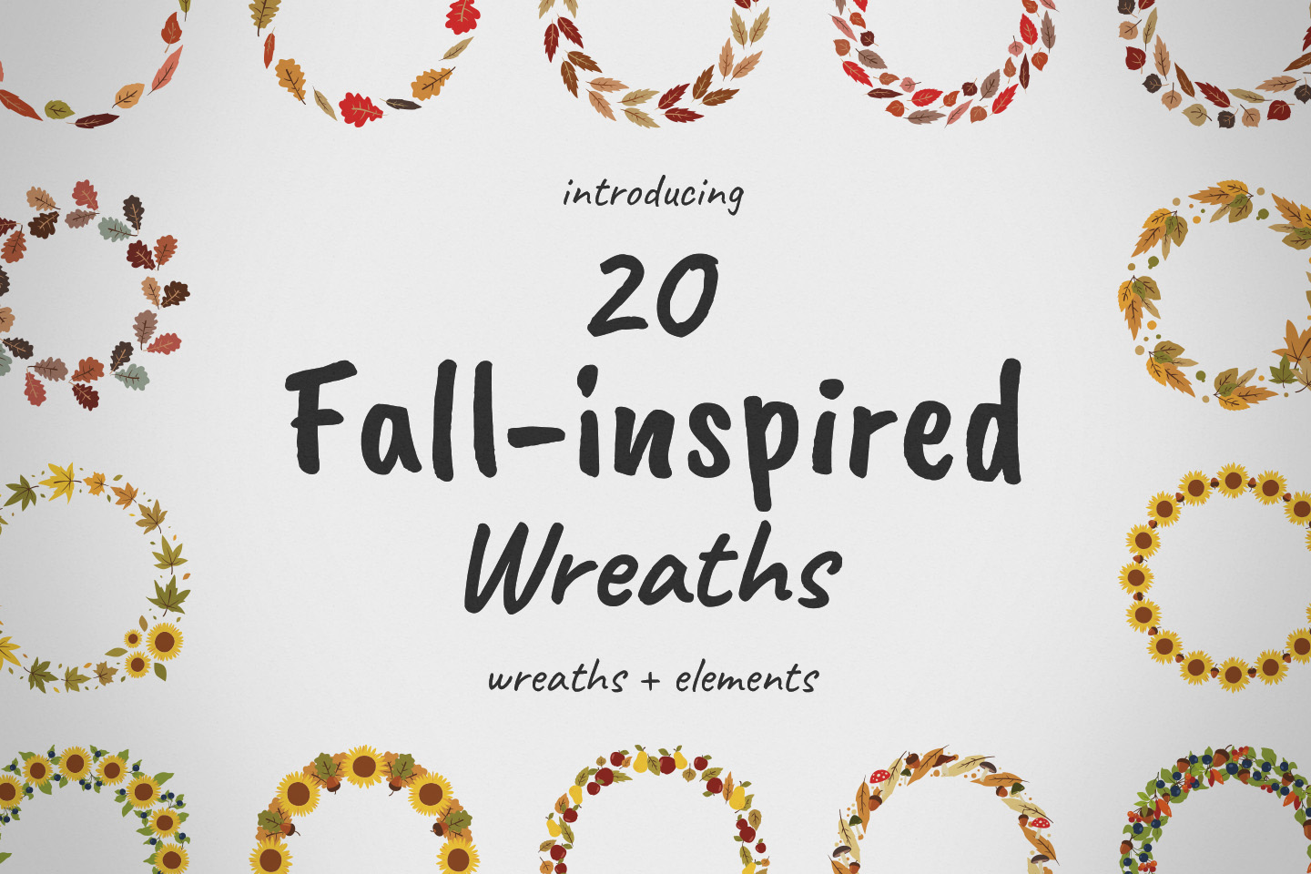 Fall-inspired Wreaths & Elements example image 1