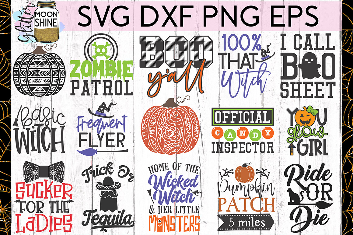 Huge Halloween Bundle of 50 SVG DXF PNG EPS Cutting Files example image 2