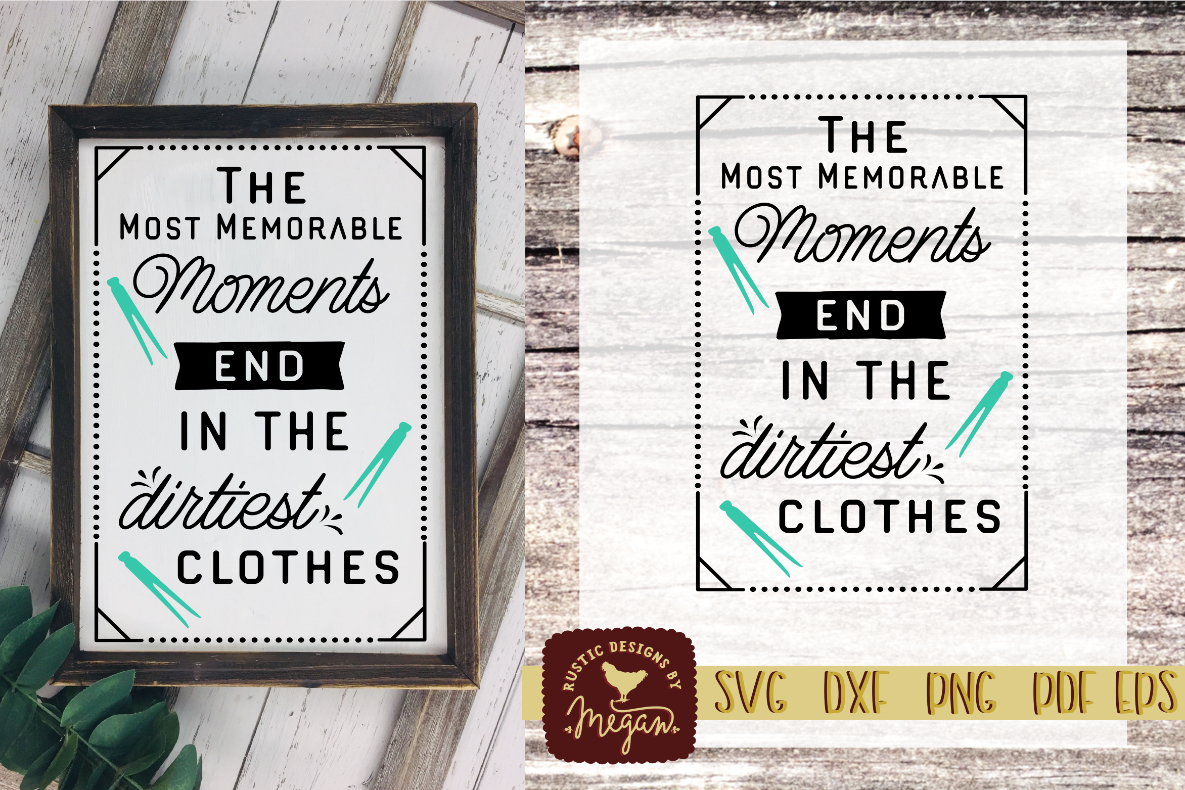 Rustic Farmhouse Memorable Moments Laundry SVG DXF EPS example image 1