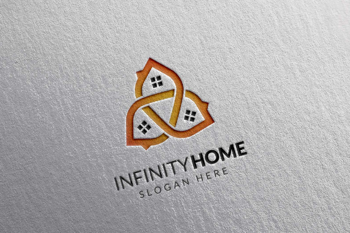 Real Estate Logo, Infinity Home Logo example image 3