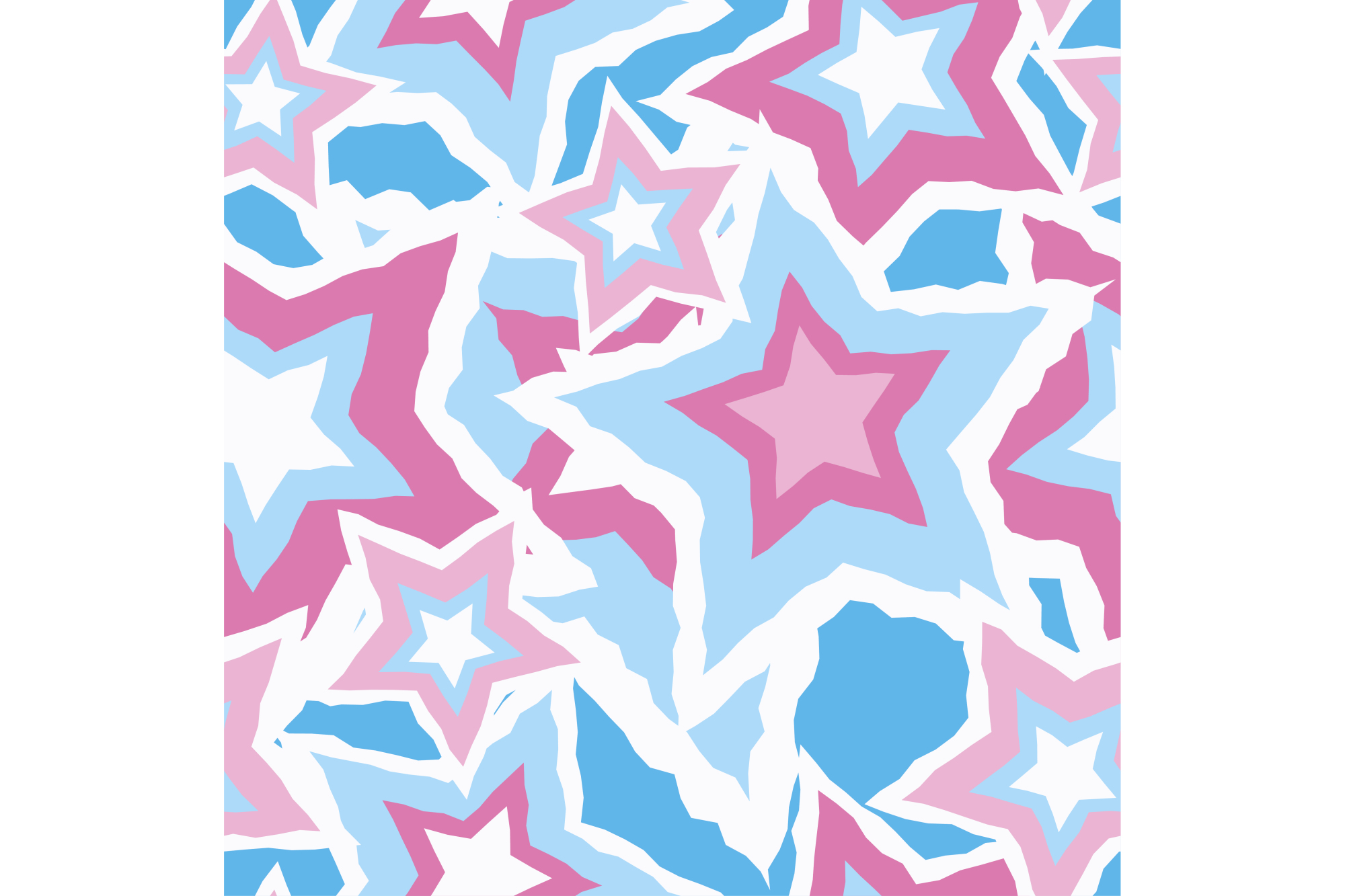 Seamless vector background with decorative stars. Print. Cloth design, wallpaper. example image 1