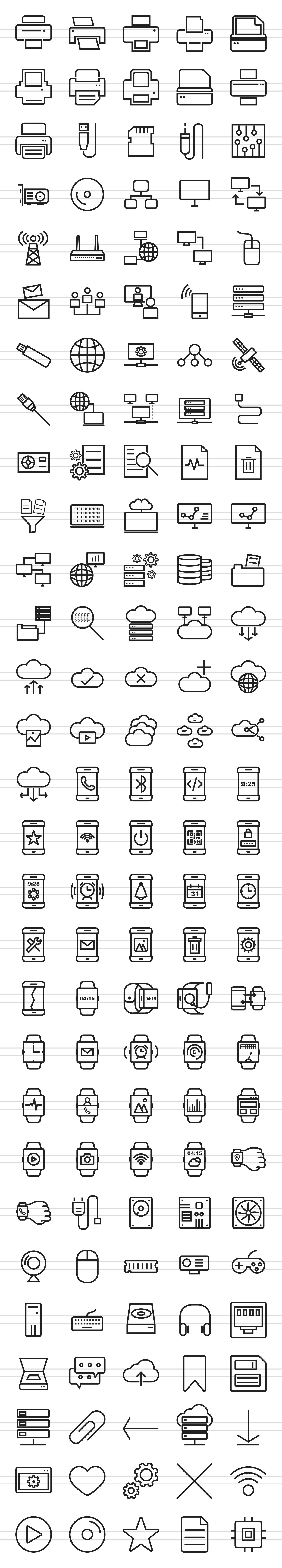 145 Hardware Line Icons example image 2