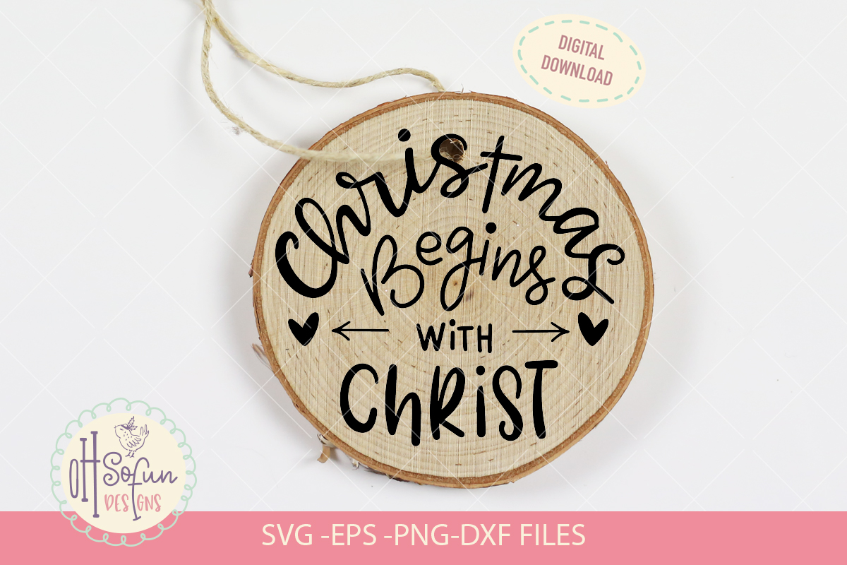 10 Religious Christmas ornaments, hand lettering Christmas example image 3