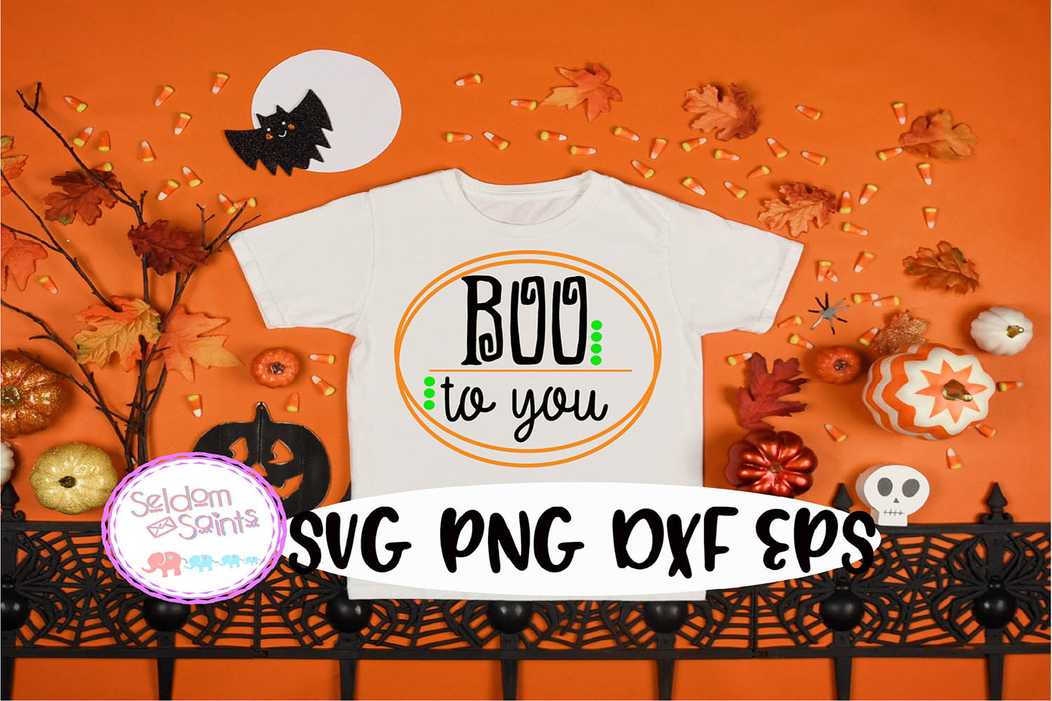 Boo to You SVG PNG DXF EPS Cricut Cut File example image 1