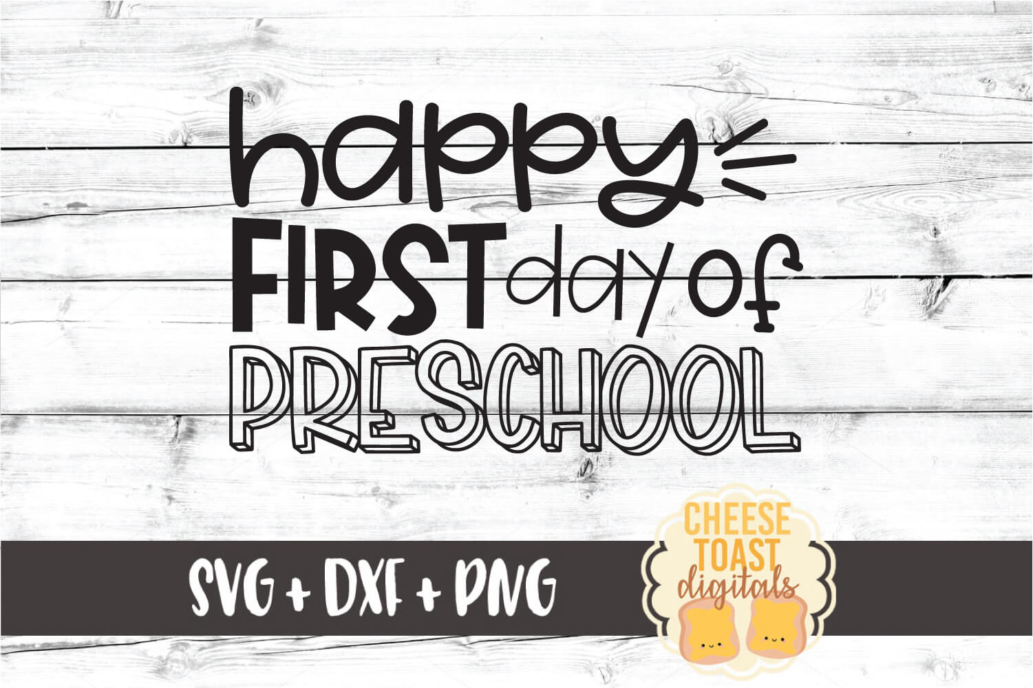 Happy First Day of Preschool - Back to School SVG PNG DXF example image 2