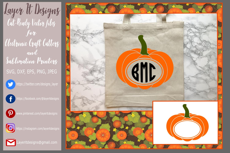 Pumpkin/ Monogram Pumpkin Frame Design File example image 6
