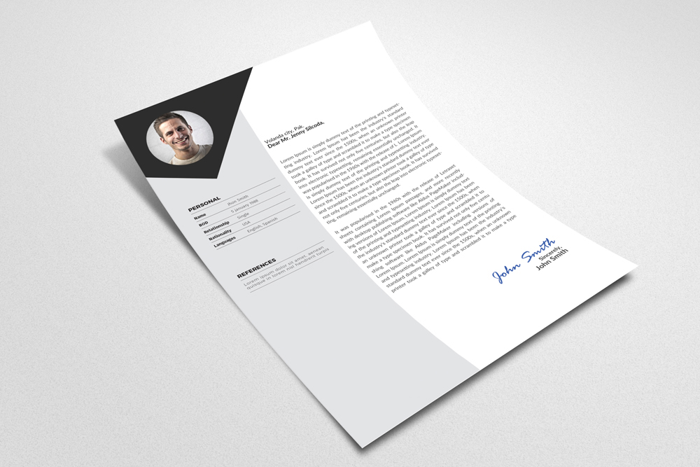 3 Pages Cv Resume Templates example image 2