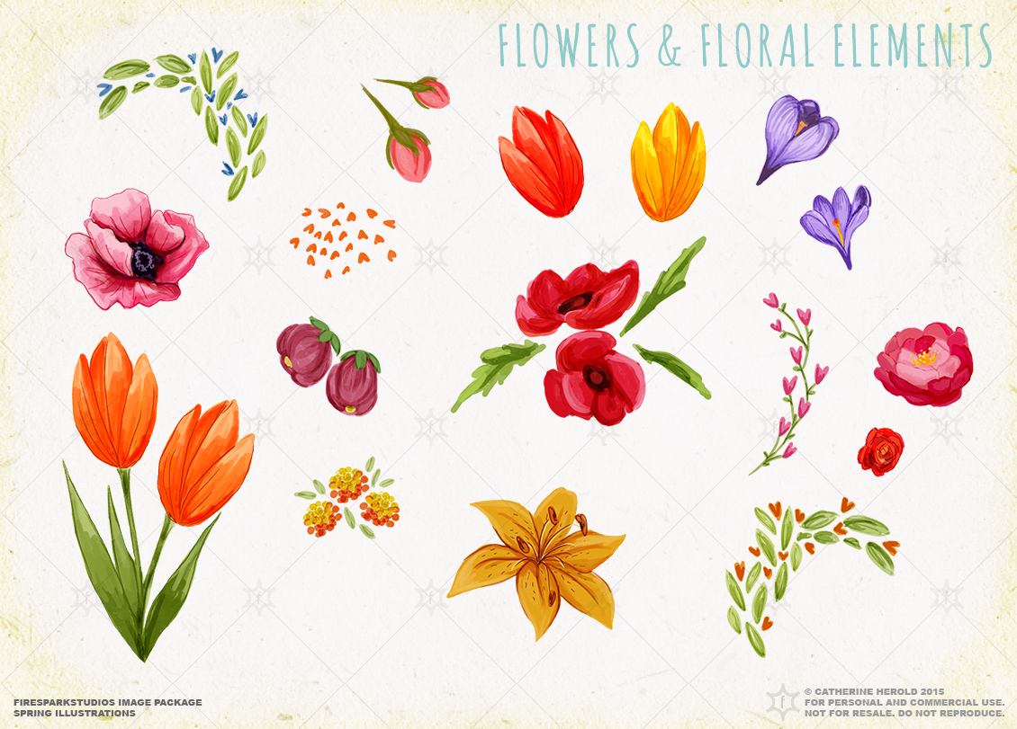 Spring Illustrations example image 3