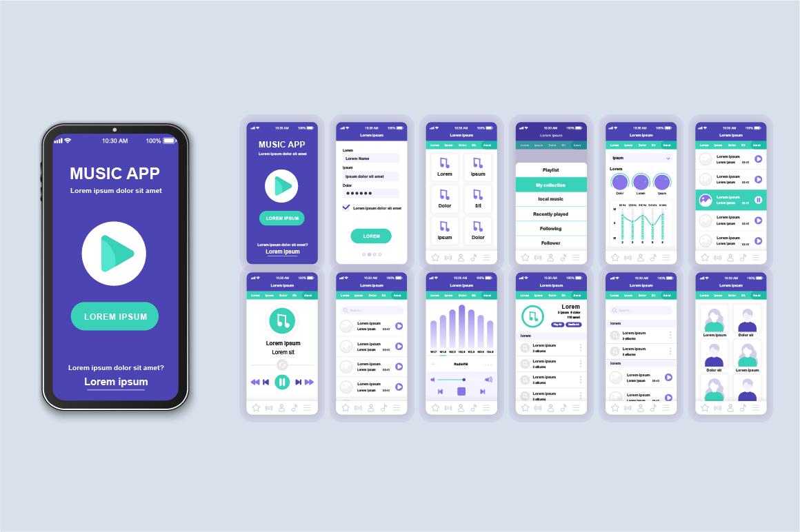 Bundle Mobile App UI Kit Screens example image 20