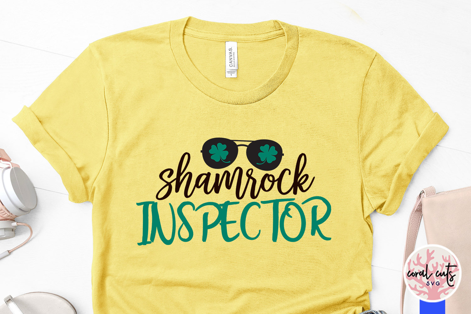Shamrock inspector - St. Patrick's Day SVG EPS DXF PNG example image 3