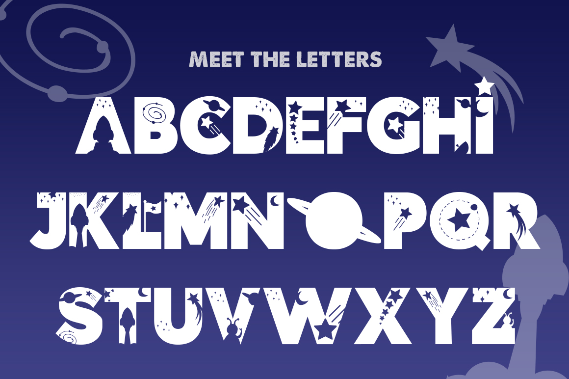 The Space Font example image 2