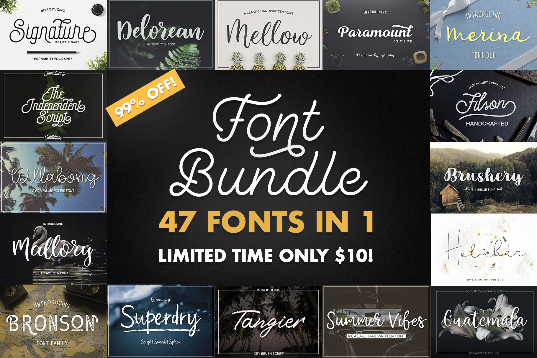 47 IN 1 FONT BUNDLE example image 1