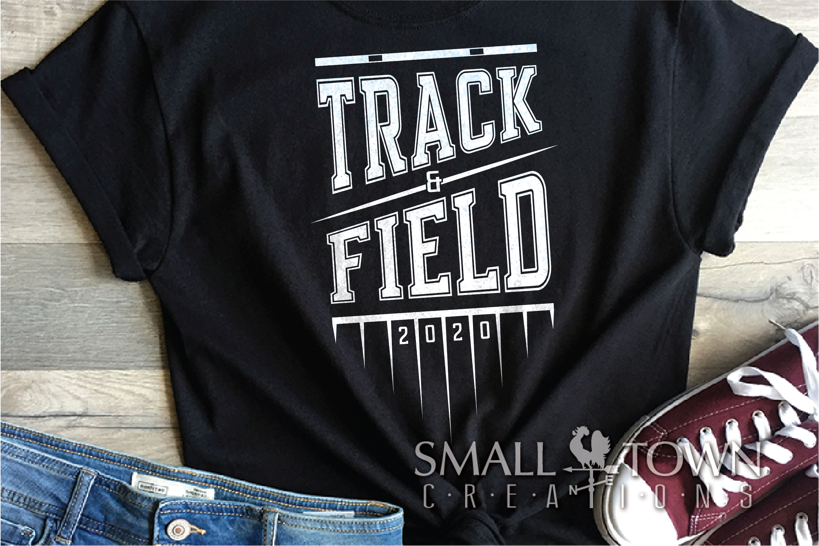 Track & Field, Track Team, Sport, Logo, PRINT, CUT & DESIGN example image 1