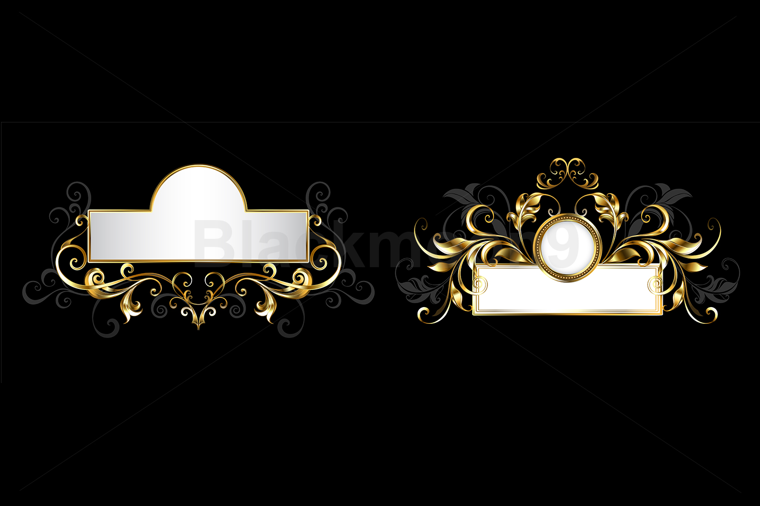 Two Antique Nameplates example image 1