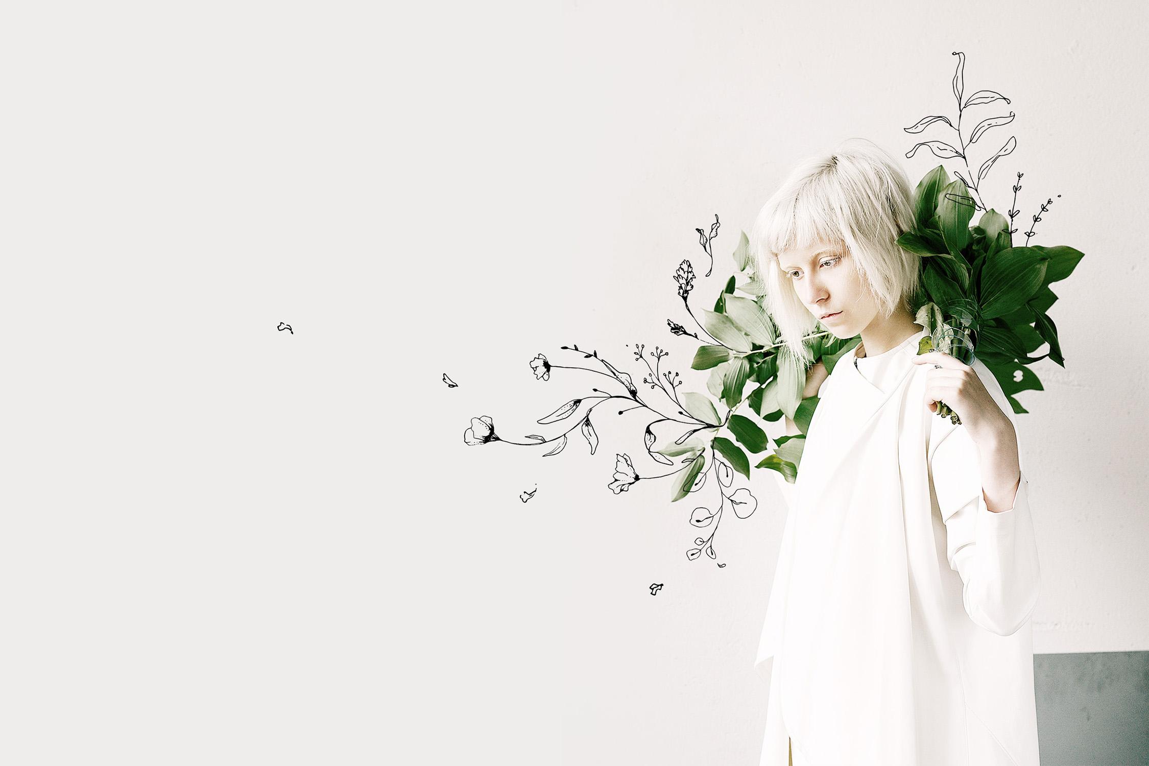 Floral Outline Illustration & Logo Pack example image 9