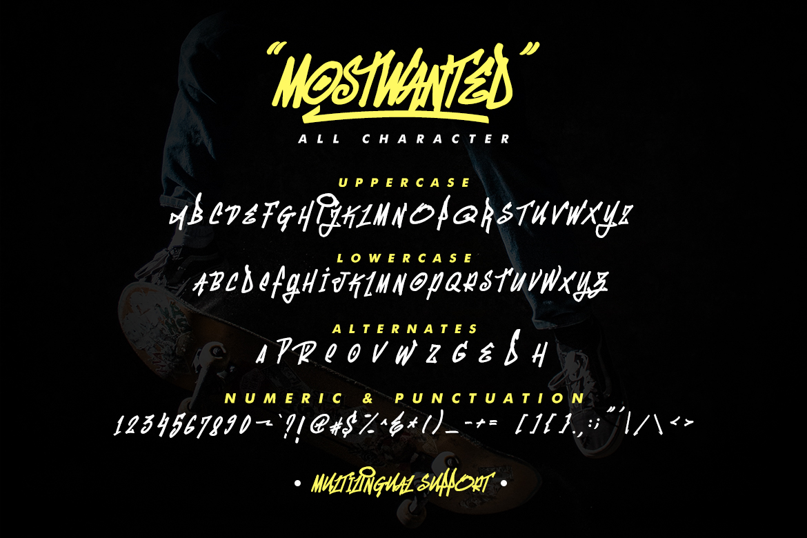 MostWanted Graffiti Font example image 7