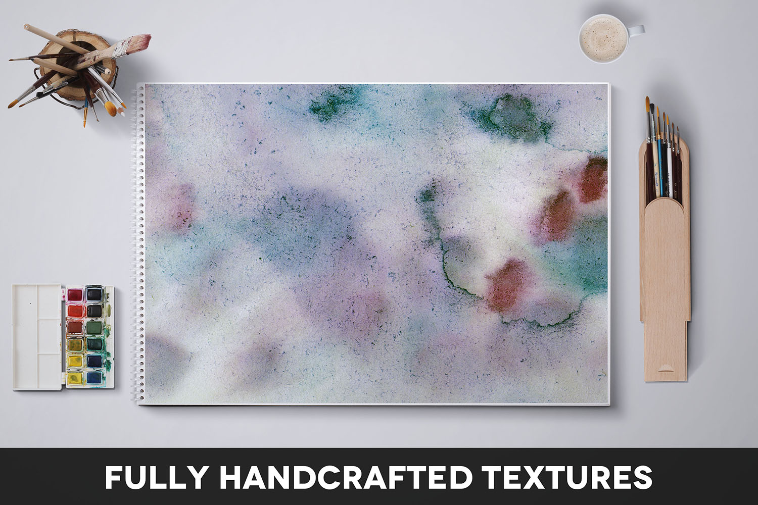 Handcrafted Watercolor Textures Vol. 07 example image 2