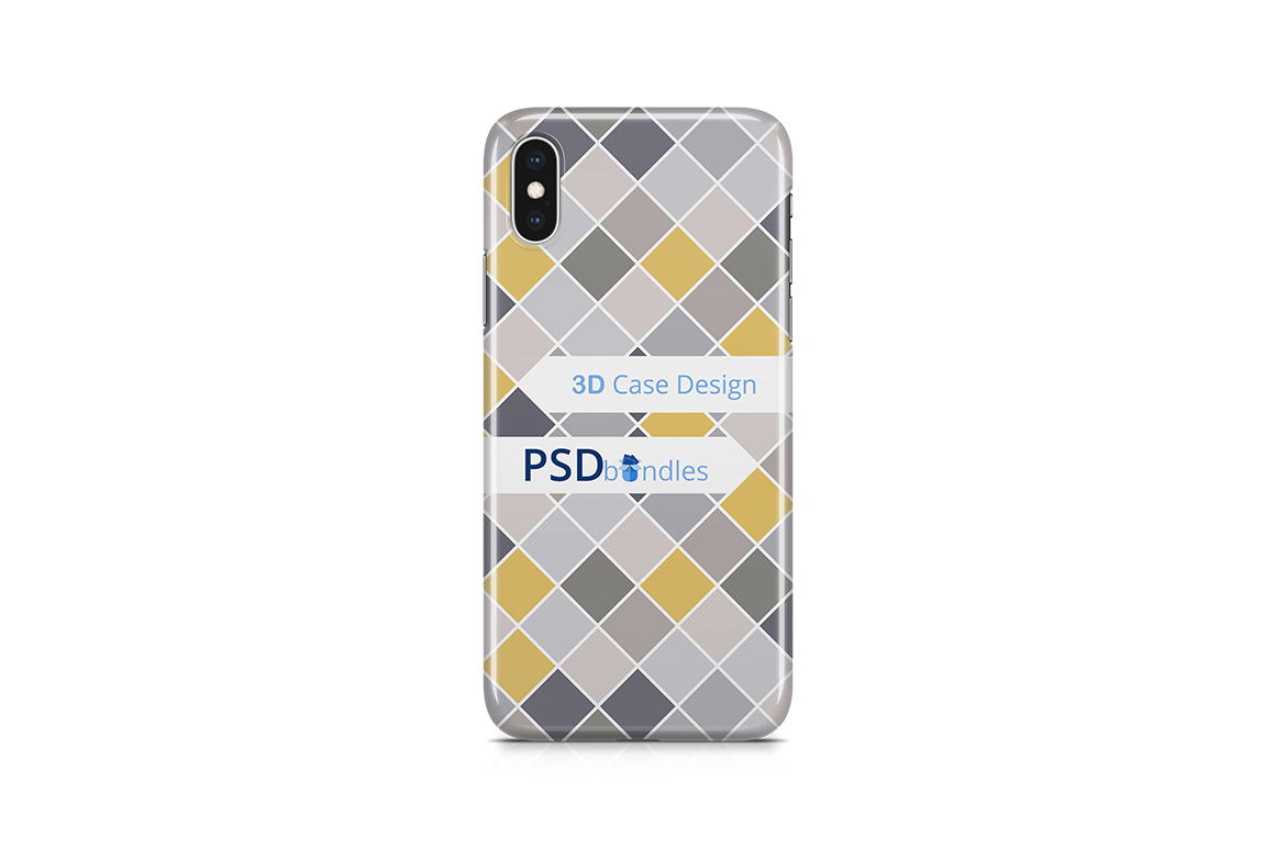 Apple iPhone XS MAX 3d Case Design Mock-up Back View example image 2
