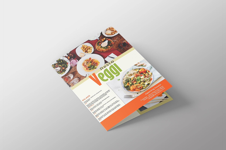 Vegan Menu Bifold Brochure A3 - AI/PSD Templates example image 9