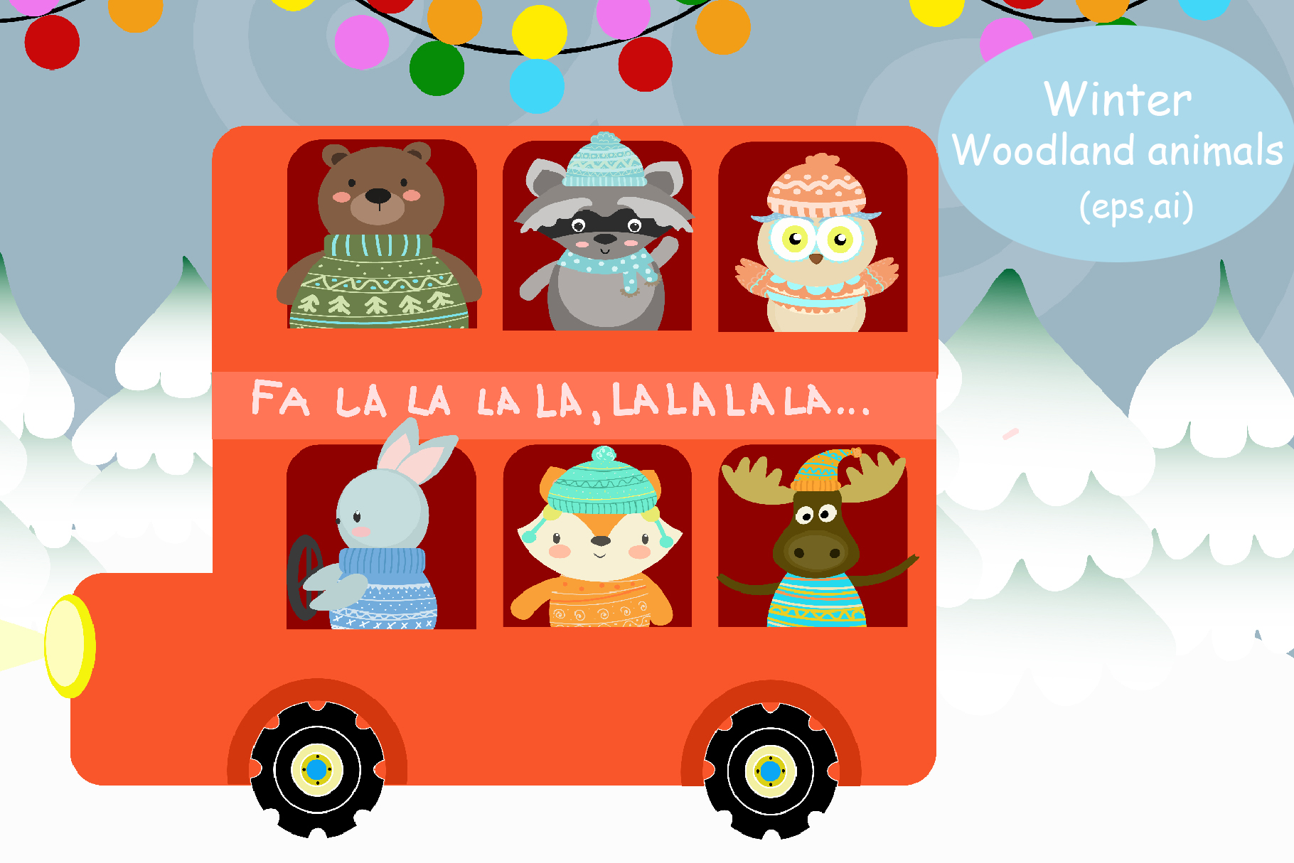 Winter Woodland Animals example image 1