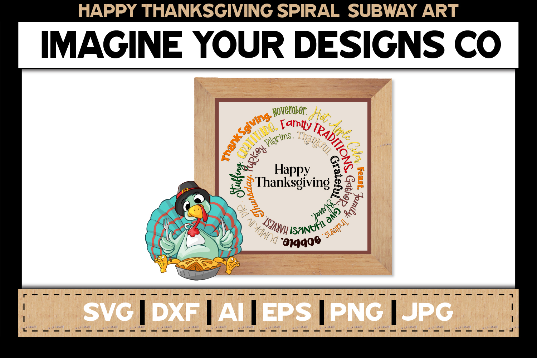 Spiral Subway Printable SVG Clipart Bundle example image 4