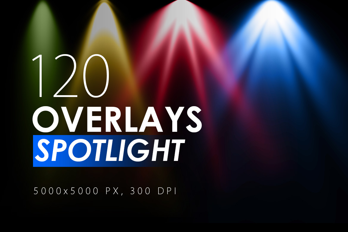 120 Colorful Spotlight Overlays example image 1