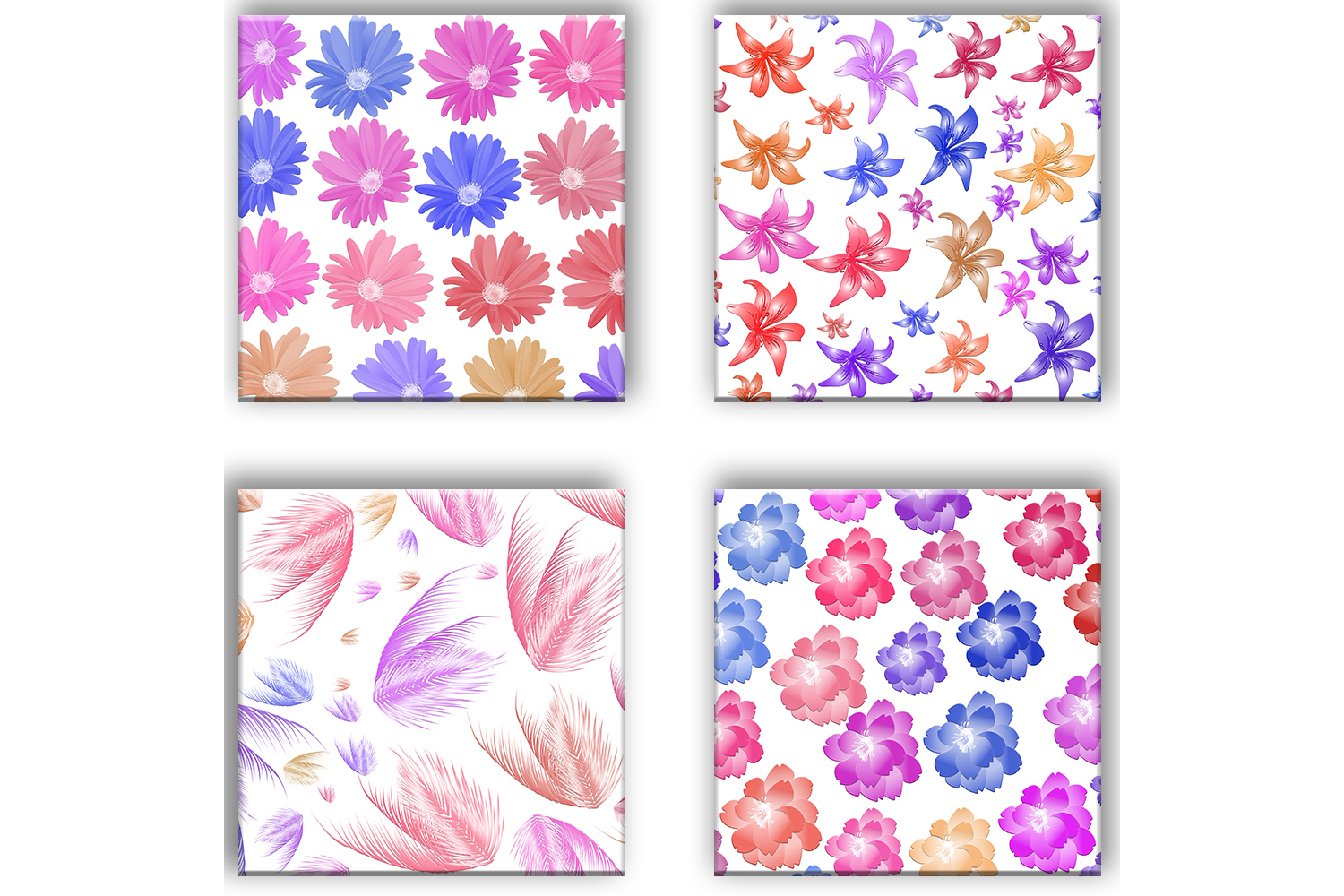 Flowers Patterned, Floral Pattern, Flowers Background example image 3
