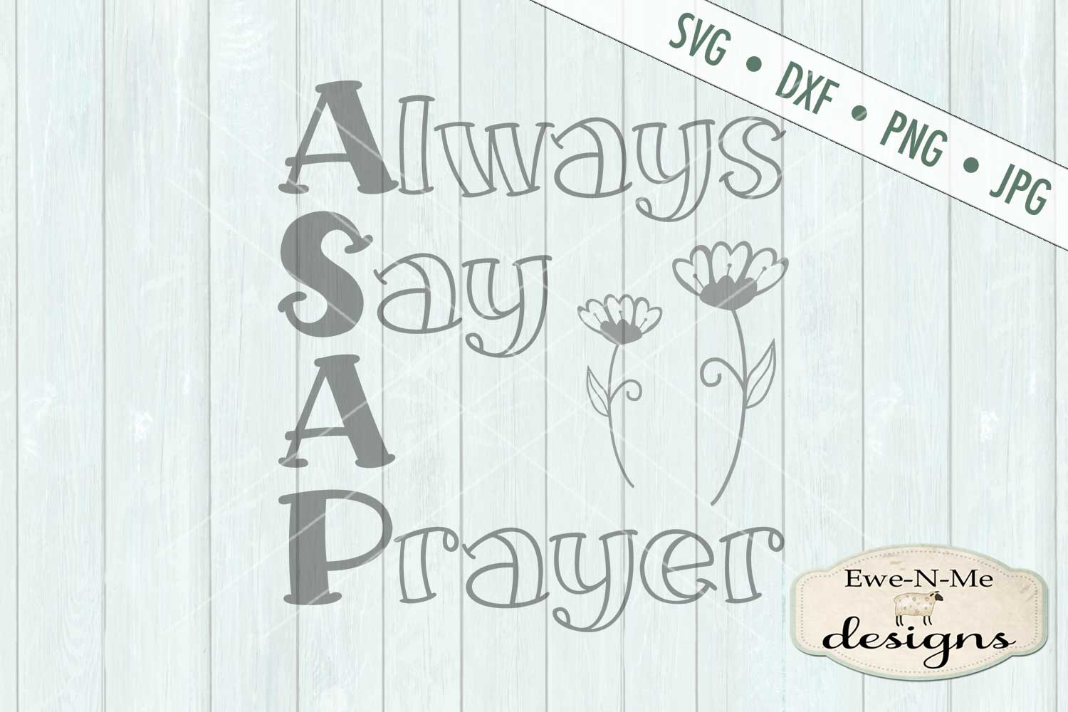 Always Say A Prayer SVG DXF Cut File example image 2