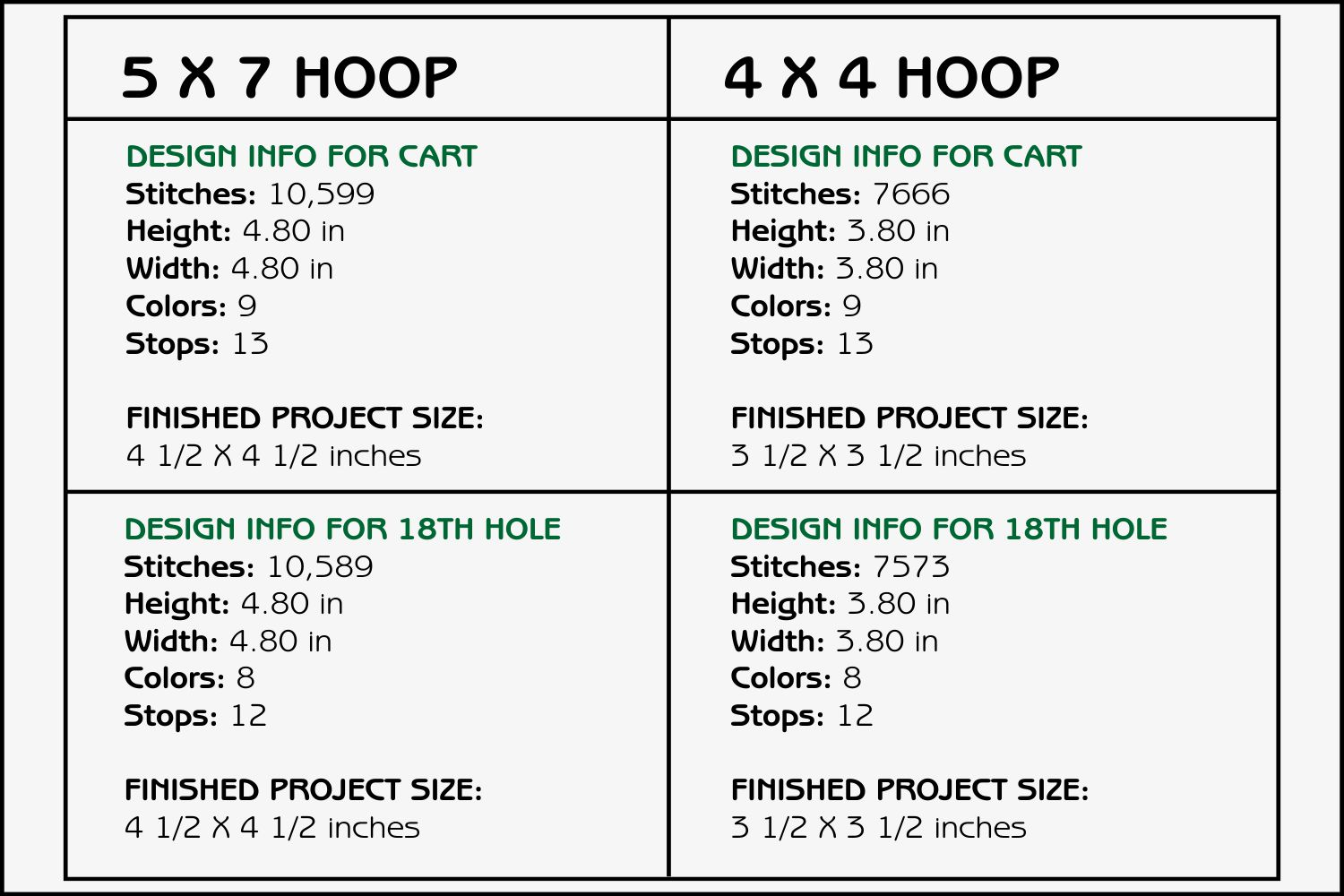 Golf Coasters - 4 x 4 and 5 x 7 Hoops example image 3