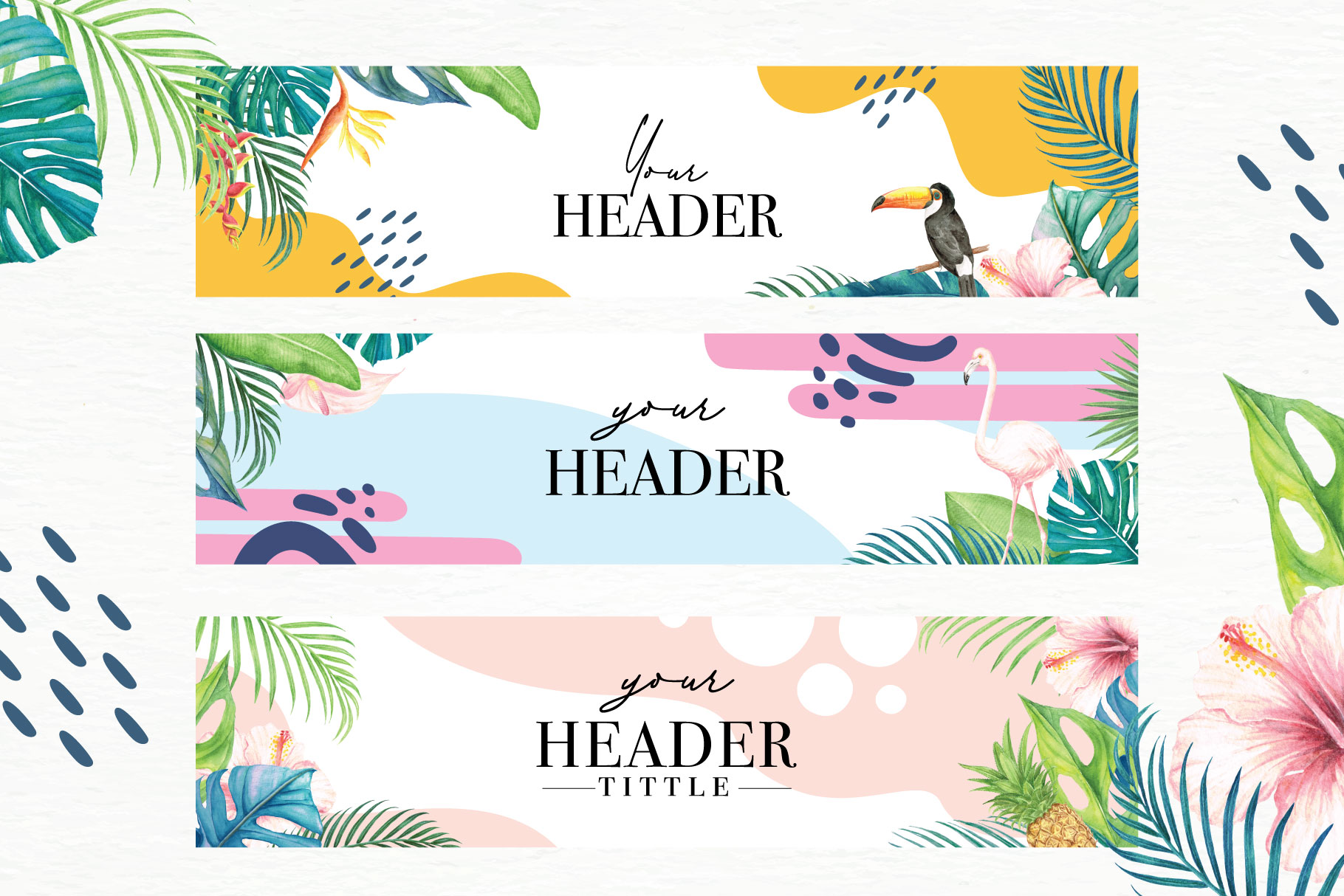 Tropical Collection - 65 Watercolor Elements example image 7