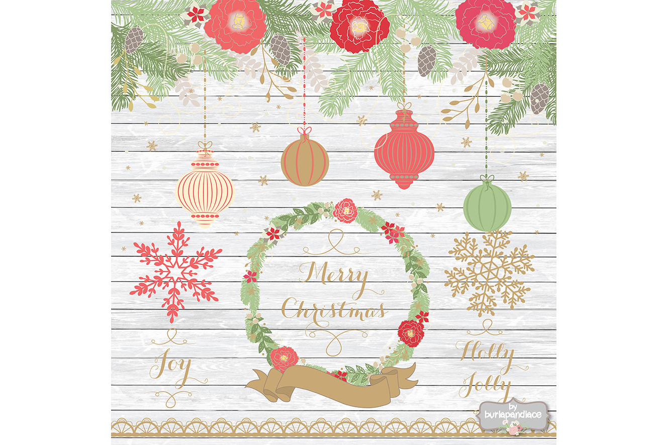 Vintage color christmas design example image 3