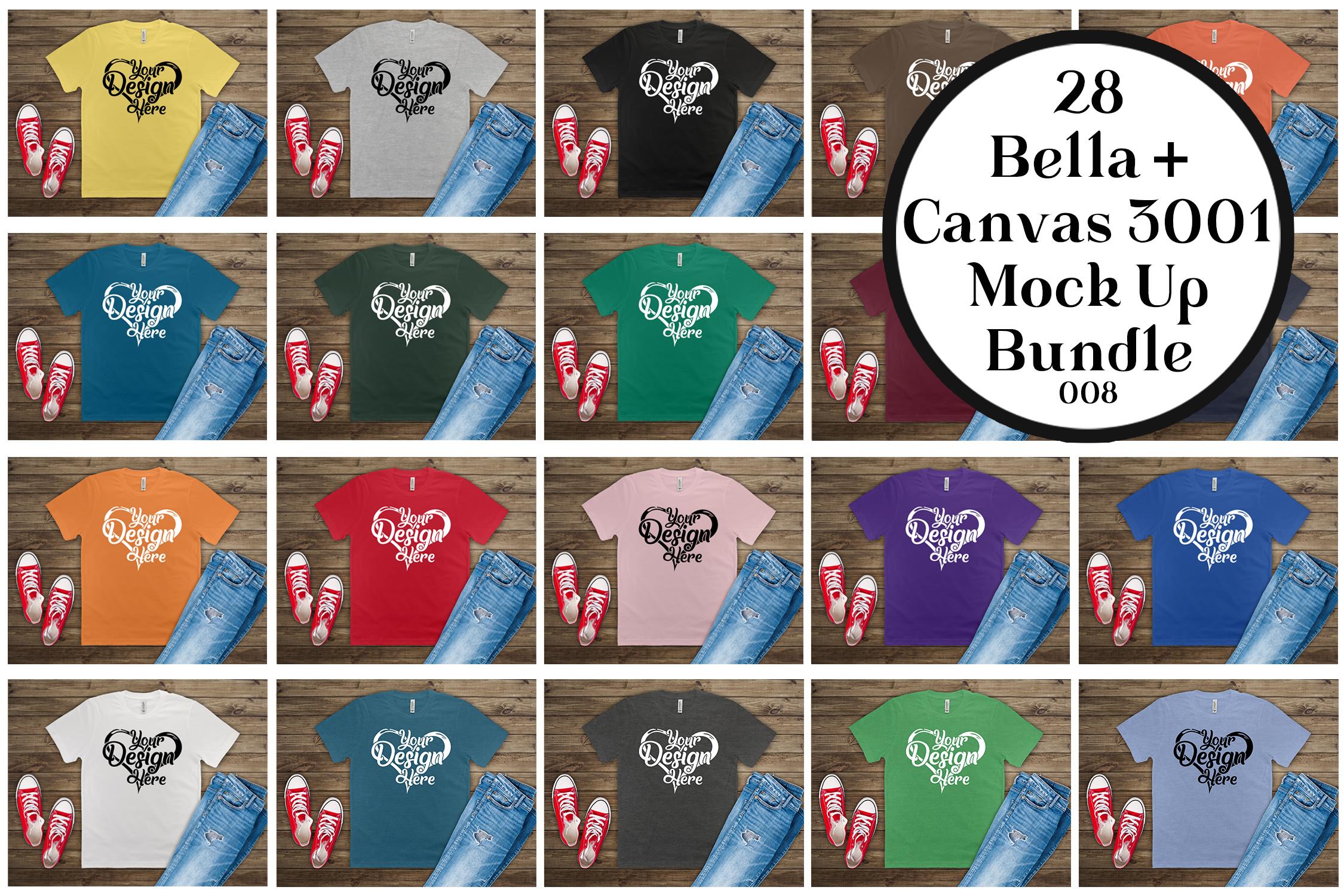 161 Bella Canvas 300 Mockups Mega Bundle Flat Lay T-Shirts example image 6