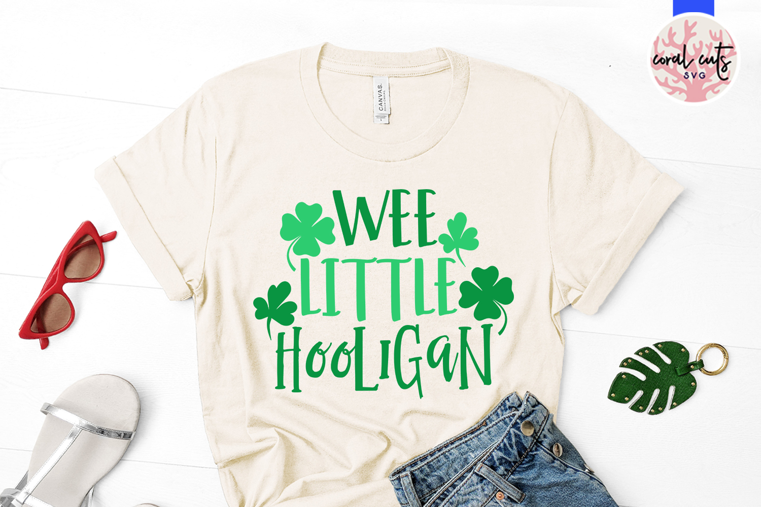 Wee little hooligan - St. Patrick's Day SVG EPS DXF PNG example image 2