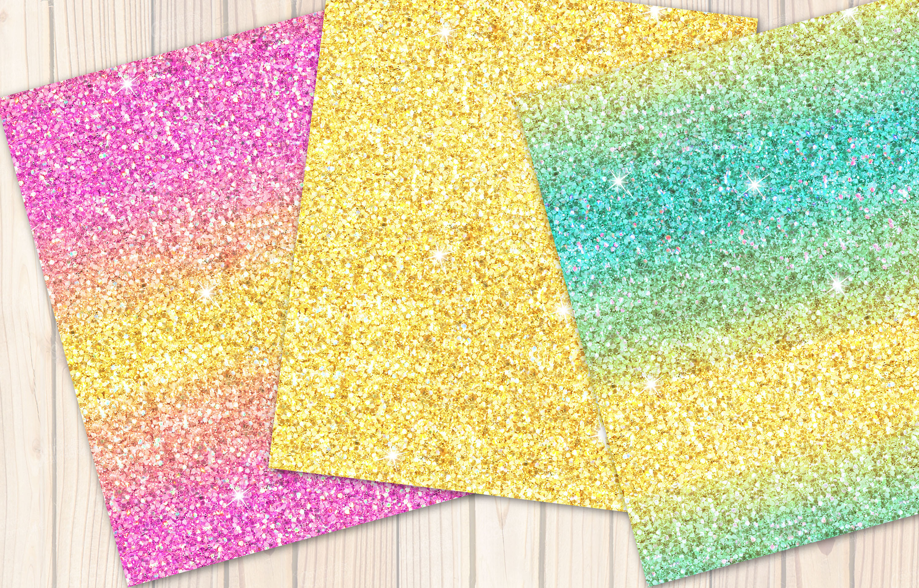 Mermaid seamless Glitter backgrounds example image 3
