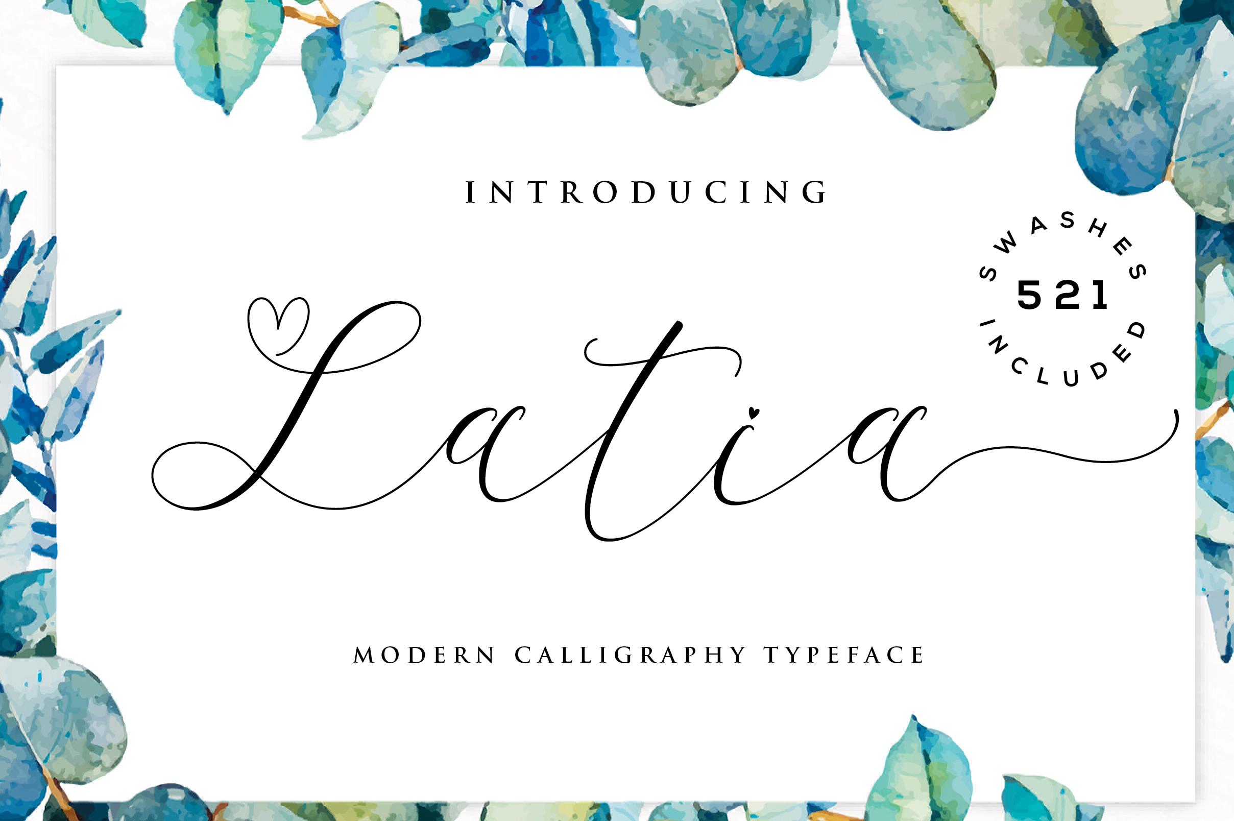 Latia Script example image 1