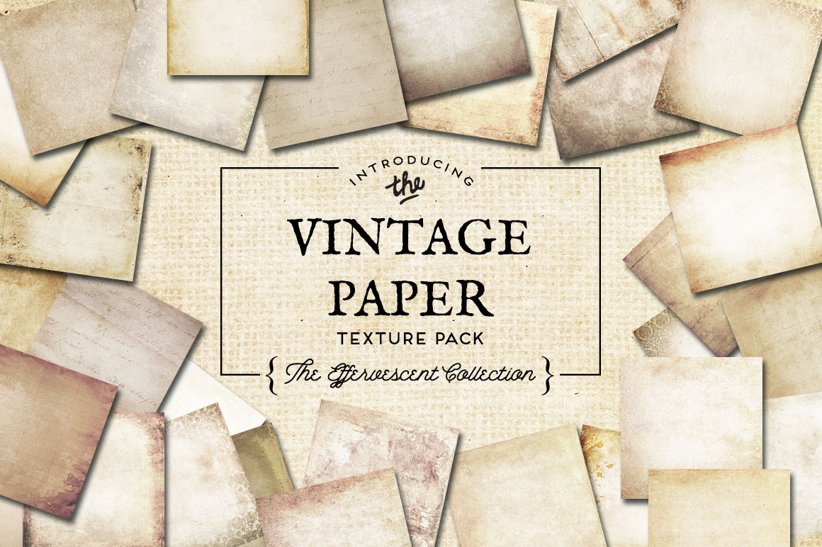 Vintage Paper Textures Effervescent Collection example image 1