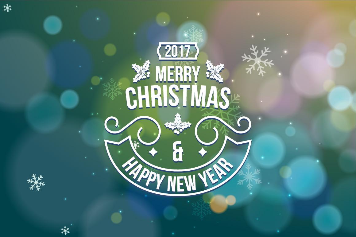 Christmas snowflake greeting card example image 1