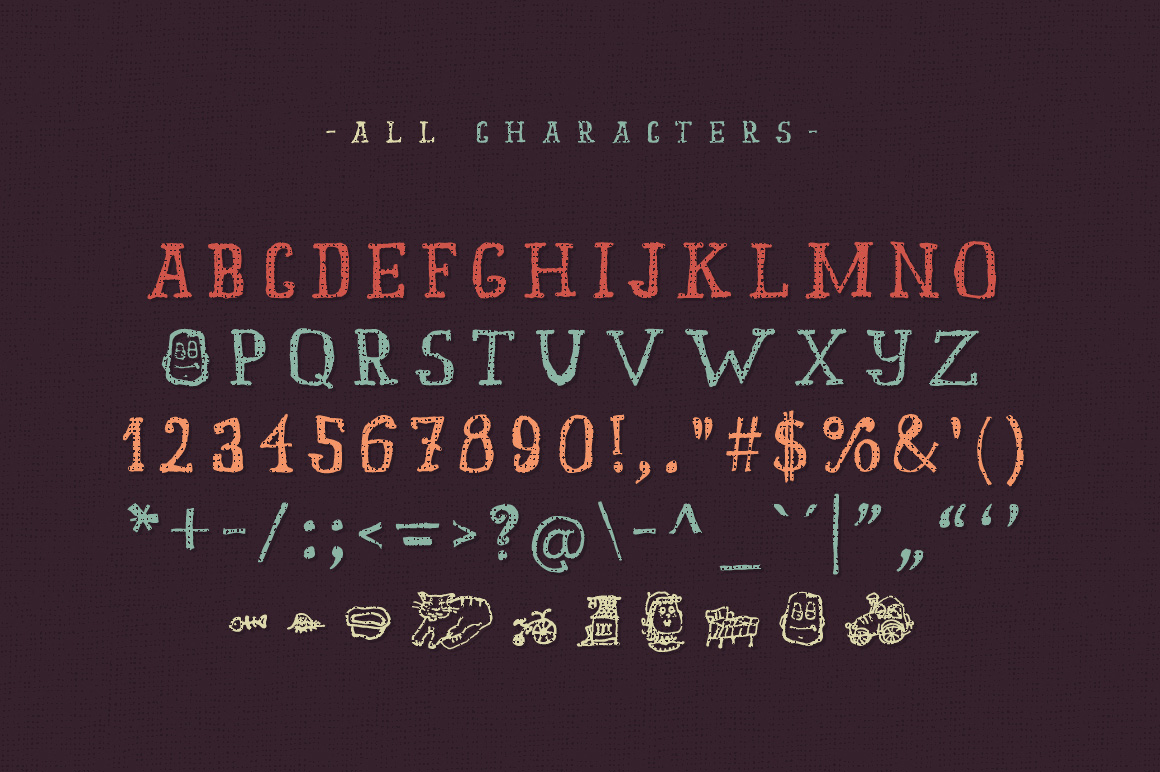 Old story typeface example image 2