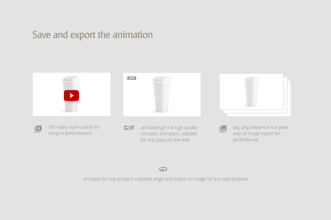 Large Coffee Cup Animated Mockup example image 8