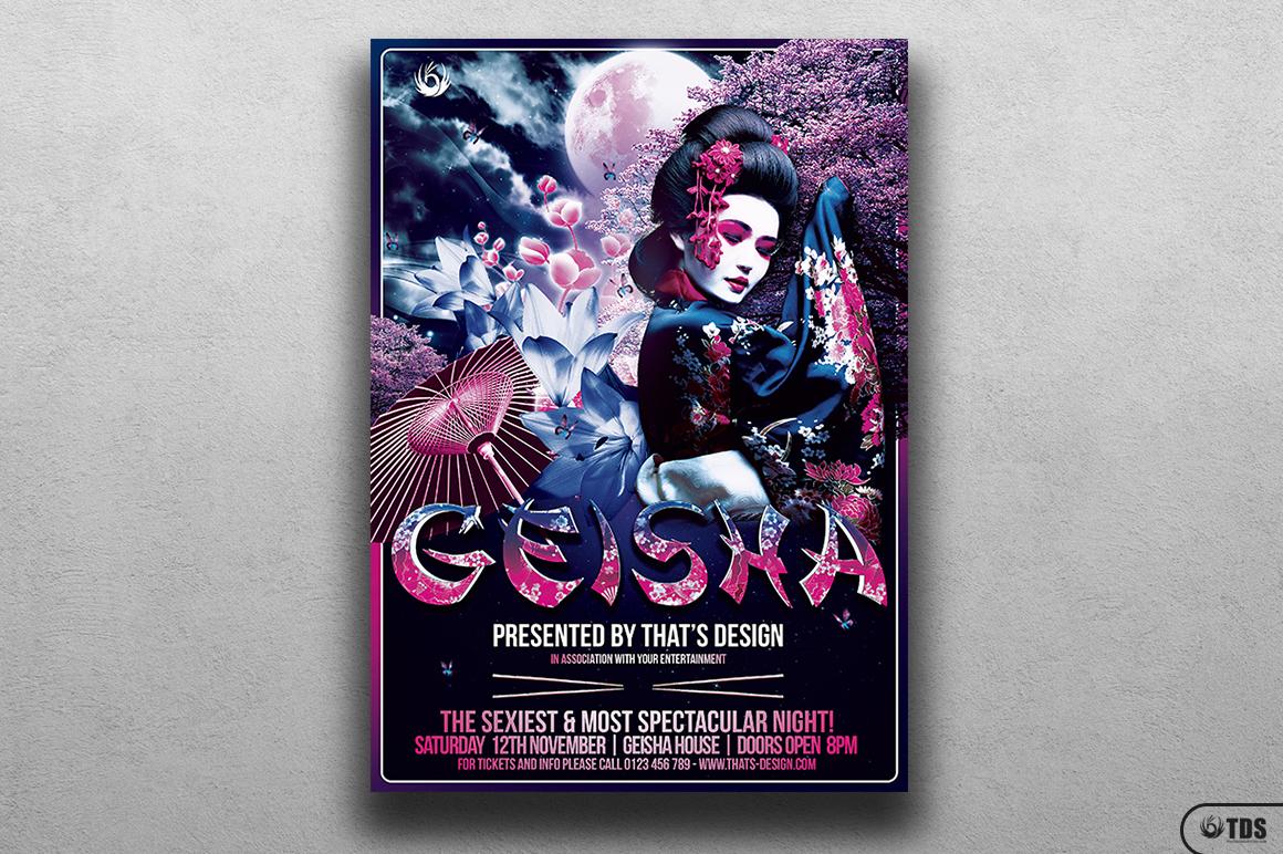 Geisha Night Flyer Template V2 example image 1