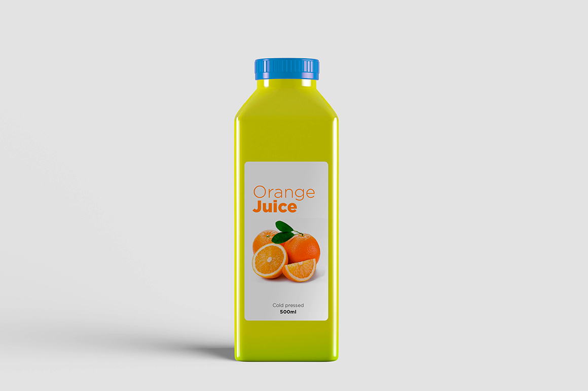 Juice Bottle Mock-Up example image 6