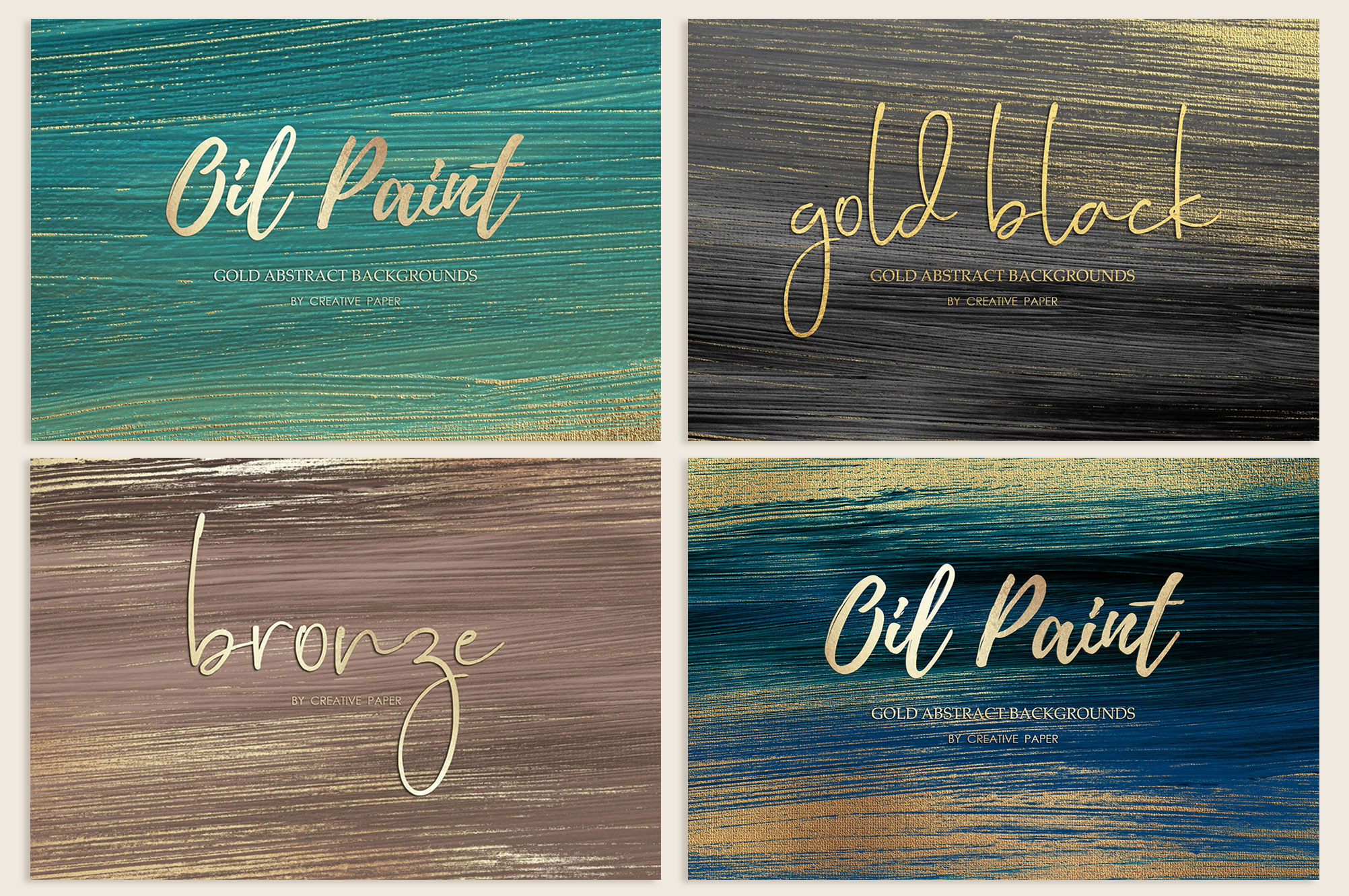 Gold Oil Paint Backgrounds example image 1