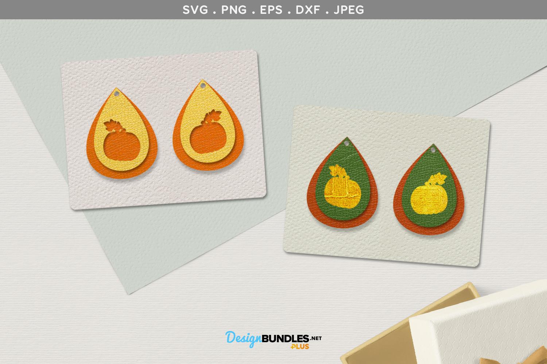 Pumpkins Earrings template example image 1