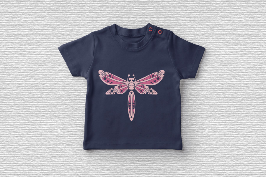 Doodle Dragonfly Beetle SVG example image 2